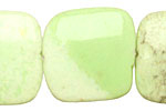 Lemon Chrysoprase Puff Square 25mm