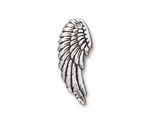 TierraCast Antique Silver (plated) Wing Pendant (right) 11x28mm