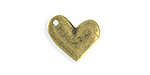 Vintaj Antique Brass (plated) Asymmetrical Heart Blank 17x16mm