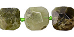 Green Garnet Faceted Flat Slab 13-17mm