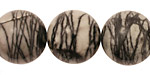 Black Water Jasper Round 18mm