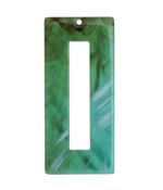 Zola Elements Turquoise Bullhorn Acetate Rectangle Donut 22x49mm