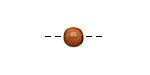 Tagua Nut Caramel Round 6mm