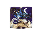 Grace Lampwork Cobalt Celestial Pillow 26mm