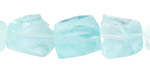 Aqua Recycled Glass Nugget 10-19x11-15mm