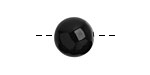 Tagua Nut Black Round 16mm