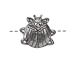 Green Girl Pewter Scarab Button 24x22mm