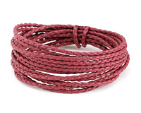 Wine Braided Cotton Bolo Cord 2mm