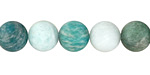 Russian Amazonite (matte multi) Round 10mm