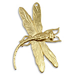 Vintaj Vogue Art Deco Dragonfly Pendant 47x35mm