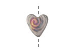 Xaz Raku Galactic Spiral Mini Heart 15mm