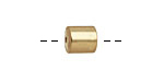 Satin Hamilton Gold (plated) Cylindrical End Cap 8mm
