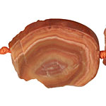 Banded Red Agate Freeform Pieces Graduated 29-50x20x44mm