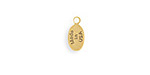 Vintaj Antique 10K Gold (plated) Oval USA Jewelry Tag 5x11mm