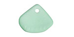 Cool Mint Recycled Glass Clam Shell Drop 25x21mm