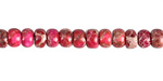 Ruby Impression Jasper Rondelle 6mm