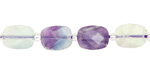 Rainbow Fluorite Rough Cut Faceted Nugget 9-11x9-10mm