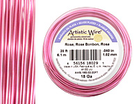 Artistic Wire Silver Plated Rose 18 gauge, 20 feet