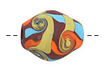 Unicorne Beads Santa Fe Barrel Bead 25x22mm