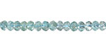Apatite Faceted Rondelle 3x4mm