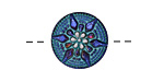 Czech Glass Iridescent Light Sapphire Starflower Button 18mm
