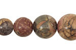 Red Creek Jasper Round Graduated 6-18mm