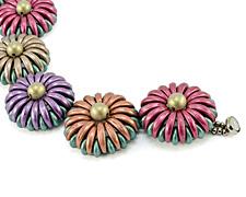 Chrysanthemum Bracelet Pattern for CzechMates