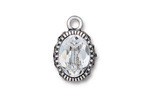 TierraCast Antique Silver (plated) Celestial Brilliance w/ Crystal Pendant 14x21.5mm