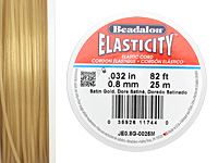 Elasticity Satin Gold .8mm, 25 meters