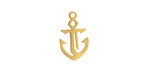 Gold (plated) Stainless Steel Anchor Focal 10x16mm