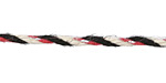 Red, Ivory, Black & Silver 3mm Hemp-Wrapped Wire