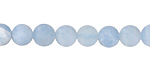 Aquamarine (matte) Round 7-8mm