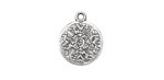 Zola Elements Antique Silver (plated) Stone Carving Coin 16x19mm