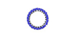 Cobalt Miyuki Delicas Woven on Stainless Steel Ring 15mm