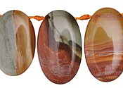 Red Creek Jasper Oval Drop 20x30-36mm