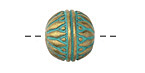 Zola Elements Patina Green Brass Sunflower Capped Round 15.5mm