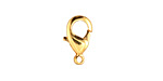 Gold (plated) Lobster Clasp 15x9mm