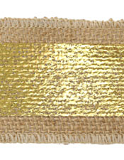 "Metallic Gold Band 2.25"" Burlap Ribbon"
