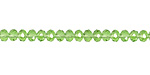 Peridot Crystal Faceted Rondelle 4mm