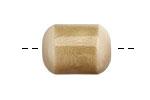 Tagua Nut Parchment Bicolor Barrel 23-24x16-17mm
