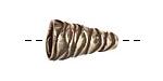 Saki White Bronze Wavy Cone 21x12mm