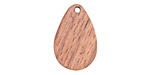 Wood Teardrop Focal 14x22mm
