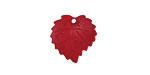 Matte Ruby Lucite Ivy Leaf 16mm