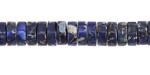 Midnight Blue Impression Jasper Heishi 3x8mm