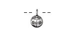 Zola Elements Antique Silver (plated) Ladybug Charm 9x14mm