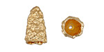 Zola Elements Matte Gold (plated) Nugget Cone 10x18mm