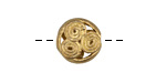 African Brass Wrapped Circles Coin 12-14x13-15mm