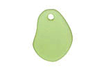 Olive Recycled Glass Potato Chip Drop 19-20x25-26mm