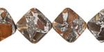 Red Creek Jasper w/ Pyrite Diamond 14mm