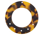 Zola Elements Tortoise Shell Matte Acetate Donut Chandelier 38mm